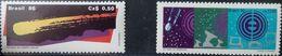 Brazil, 1986, 1990, Sc. 2043, 2281, Mi. 2167, 2376, Halley's Comet, Space, MNH - Space