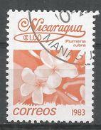 Nicaragua 1983. Scott #1217 (U) Plumeria Rubra, Fleurs, Flowers - Nicaragua