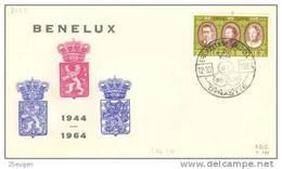BELGIUM 1964 EUROPA SYMPATHY ISSUE  FDC - European Ideas