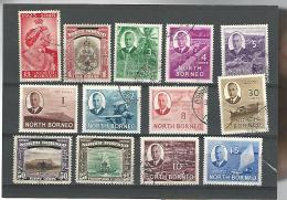 54110 ) Collection  North Borneo King Queen Overprint - Bornéo Du Nord (...-1963)