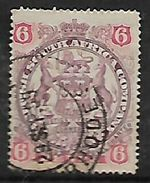 Rhodesia / B.S.A.Co., 1897,  6d Arms  Used - Rhodésie Du Sud (...-1964)