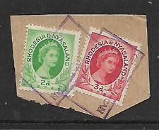 Rhodesia & Nyasaland CENTRAL AFRICAN AIRWAYS BULAWAYO Cachet On Fragment - Rhodesia & Nyasaland (1954-1963)