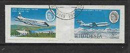 Rhodesia & Nyasaland CENTRAL AFRICAN AIRWAYS Anniversary 2/6. 5/= Used On Fragment - Rhodesia & Nyasaland (1954-1963)