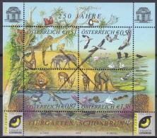 Specimen, Austria Sc1894 Elephant, Turtle, Koala, Zebra, Lion, Turtle, Orangutan, Zoo, Flamingo, Tortue - Elefantes