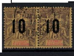 ANJOUAN        N°  YVERT    29 X 2      ( 2 )         OBLITERE       ( O   2/32 ) - Anjouan (1892-1912)