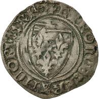 "Charles VI, Blanc Dit ""Guénar"", Sainte-Ménéhould - 1380-1422 Charles VI Le Fol"