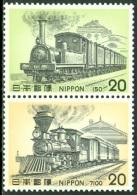 JAPAN 1974 TRAINS PAIR V** (MNH) - Trains