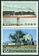 JAPAN 1974 TRAINS PAIR I** (MNH) - Trains