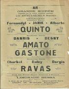 30 BEAUCAIRE AFFICHE LES ARTIST'S REUNIS QUINTO AMATO GASTONE RAVAS PUBLICITE LIMONADE BIERE DU SUD EST BESSA GARD - Posters