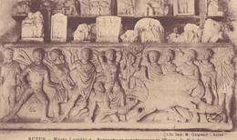 AUTUN 71 MUSEE LAPIDAIRE SARCOPHAGE REPRESENTANT LA CHASSE DE CALYDON BELLE CARTE RARE !!! - Autun