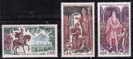 France 1966 N°Y.T. : 1495 à 1497 ** - Neufs