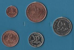 QATAR COIN SET 5 MONNAIES 1 DIRHAM - 50 DIRHAMS 2006 - 2008 - Qatar