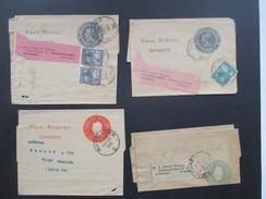 Argentinien 1900 - 1903 Streifbänder 4 Stück / 2 Stk. Mit Zusatzfrankatur Nach Deutschland! Faja Postal Impresos - Argentinien
