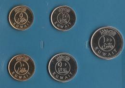 KUWAIT COIN SET 5 MONNAIES 5 FILS - 100 FILS 2011 - 2012 BATEAU SHIP - Kuwait