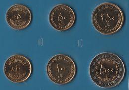 IRAN COIN SET 6 MONNAIES 5 RIALS - 500 RIALS 1374 - 1384 BIMETAL - Iran