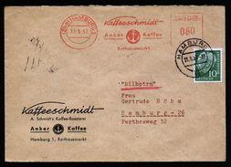 A5048) Bund Expressbrief Hamburg 11.5.57 MiF AFS + Marke Und 3 TA-Stempel - Briefe U. Dokumente