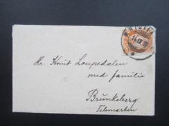 Norwegen 1916 Minibrief / Sehr Kleiner Brief. 9,5x6cm. Interessant?? - Norwegen