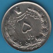 IRAN 5 RIALS 1345 (1966) Muhammad Reza Pahlavi  KM# 1175a - Iran