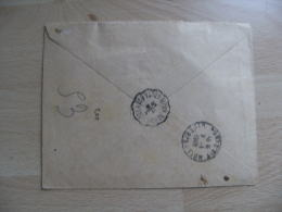 Cachet Gare Poste Ferroviaire Bobo Dioulasso Haute Volta  Lettre Recommande Apres Le Depart Bouake - Unclassified