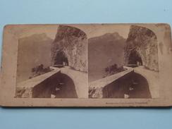 AXENSTRASSE, Lake LUCERNE Switzerland - Anno 19?? ( Stereo Photo ? / Voir Photo Pour Detail ) ! - Photos Stéréoscopiques