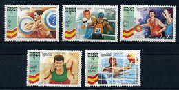 Cambodge ** N° 1081 à 1085 - J.O. De Barcelone (haltérophilie, Boxe, Basket, Course, Water-polo) - Kambodscha