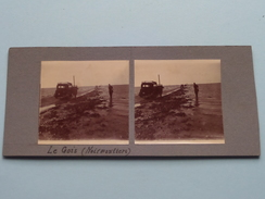 Le Gois ( Noirmoutiers ) - Anno 19?? ( Stereo Photo Amateur (?) Voir Photo Pour Detail ) ! - Photos Stéréoscopiques