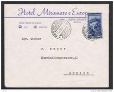 REPUBBLICA:  1951  LAVORO  -  £. 55  ISOLATO  IN  TARIFFA  ESTERO  SU  BUSTA  PUBBLICITARIA  -  SASS. 648 - 6. 1946-.. Repubblica