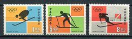 Formose ** N° 811 à 813 - J.O. à Sapporo : Skis - - 1945-... Republic Of China