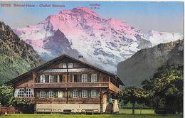 BERNERHAUS / CHALET BERNOIS → Schöne Colorierte Karte Anno 1917 ►Stempel Gunten◄ - BE Berne
