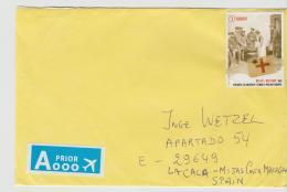B382 /  BELGIEN - Rotes Kreuz, Marke Zum Europatarif Auf Brief Von 2017 - Belgium