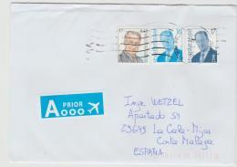 B383 / BELGIEN -  3 Marken Mit Königfrankatur Auf Brief Von 2017 - Belgium