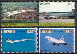 St Kitts MNH Concorde Set - Concorde