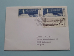 Stamp FREDERIKSHAVN Postad Ombord M/S Prinsessan CHRISTINA 1974 > Antwerpen ( Open Enveloppe / Omslag ) ! - Suède