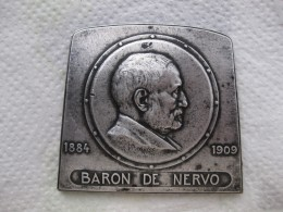 Médaille En Bronze Baron De Nervo 1909, Aciéries De Denain Et Anzin Par Dautel - Non Classificati