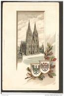 Kóln. Dom. Wappen-Eichenblatt-Prägekarte - Koeln