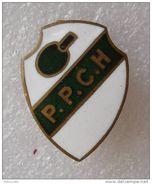 Ancien Insigne . Old Lapel Badge Pin . Tennis De Table . PPCH HONDOUVILLE . Ping-Pong . Club Hondouville - Table Tennis