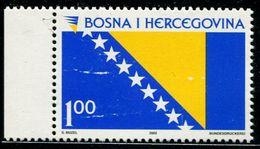 AS4506 Bosnia And Herzegovina 2002 National Flag Has A Dew White 1V MNH - Stamps