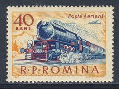 Romania Romana Rumänien 1963 Mi 2161 Aero YT A184 ** Class 142 Steam Locomotive (1936) / Dampflokomotive, Personenwagen - Treinen