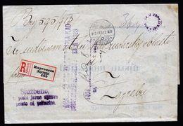 A5050) Slowakei Slovakia R-Dienstbrief Kaproncza 12.2.13 Nach Zagreb - 1850-1918 Imperium