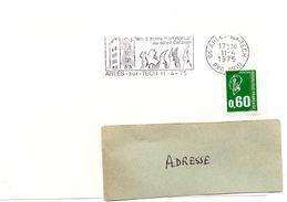 PYRÉNÉES ORIENTALES - Dépt N° 66 = ARLES Sur TECH 1975 = FLAMME Type II = SECAP Illustrée = ART ROMAN Au SOLEIL CATALAN - Postmark Collection (Covers)
