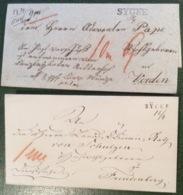 SYCKE Zwei Versch. Stpl Typen U.a Seltener POSTVORSCHUß Brief (Hannover Altdeutschland Vorphilatelie Cover - Hanover