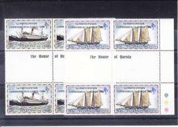 VOILIER - MICHEL 355**-356** - BLOC DE 4 AVEC PONT ET INSCRIPTION - SURCHARGE - - Falkland