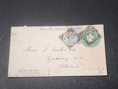 INDE - Entier Postal + Complément De Calcutta Pour La Tchécoslovaquie En 1891/92 - L 11267 - 1882-1901 Empire