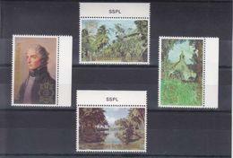 MICHEL 392**-395**  -- SURCHARGE EXPO PHILATELIQUE LONDON - St.Kitts-et-Nevis ( 1983-...)