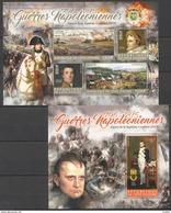 O985 2016 COTE D'IVOIRE MILITARY & WAR NAPOLEON SEPTIEME COALITION 1KB+1BL MNH - Napoleon