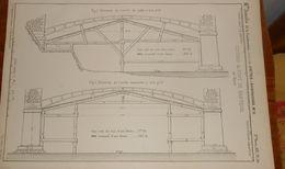Plan Des Cintres Du Pont De Nanteuil Sur Marne. 1857. - Public Works