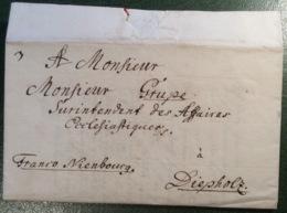 BISSENDORF 1761(Ldr Osnabrück) Brief > Diepholz FRANCO NIENBURG (Hannover Altdeutschland Cover Vorphilatelie - Hanover