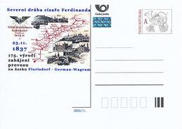 Tschech. Rep. / Ganzsachen (Pre2012/66) K.k. Privilegierte Kaiser Ferdinands-Nordbahn (1837), 175 Jahre - Koniklijke Families