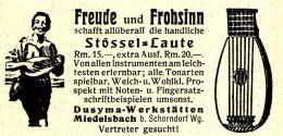 Original-Werbung/ Anzeige 1930 - STÖSSEL LAUTE - DUSYMA - MIEDELSBACH BEI SCHORNDORF - Ca. 65 X 30 Mm - Publicités