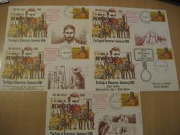 THE NED KELLY SAGA The Siege Of Glenrowan Melbourne Beechworth 1980 5 Postal Stationery Cover AUSTRALIA - Interi Postali